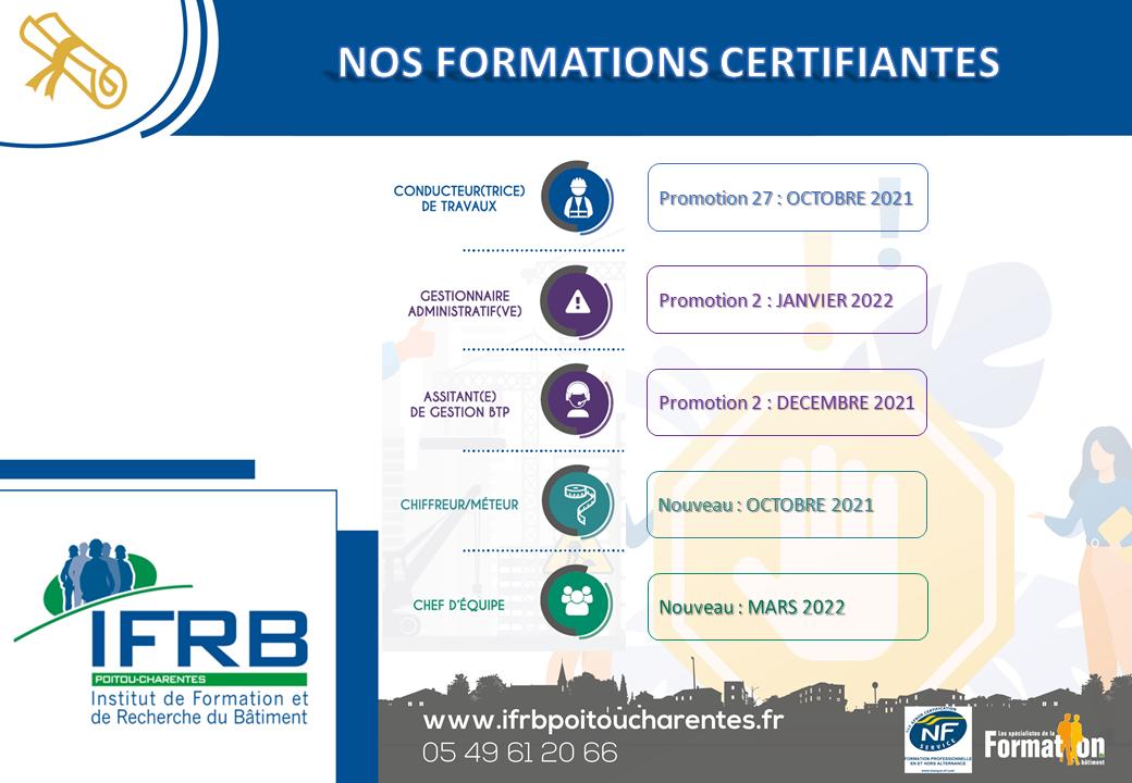 Nos formations certifiantes